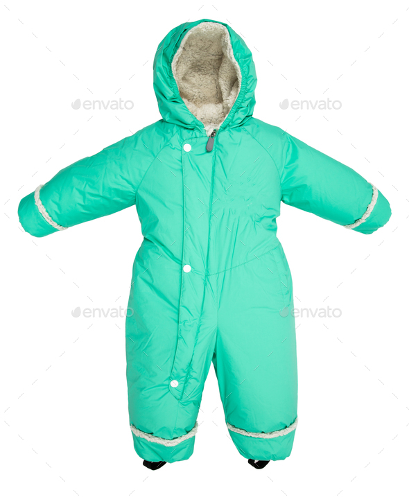 Childrens snowsuit fall - Stock Photo - Images