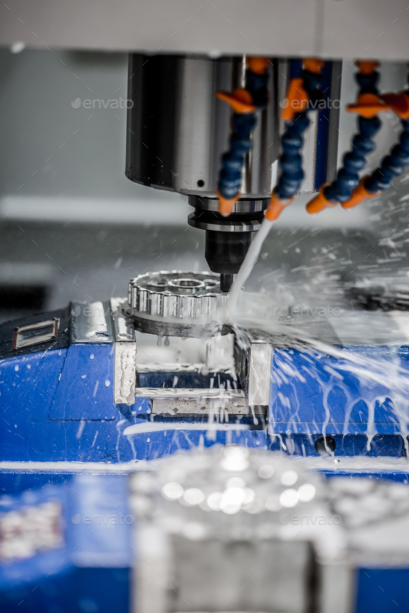 Metalworking CNC milling machine. - Stock Photo - Images