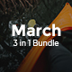 3 in 1 March Bundle Creative Powerpoint Template - GraphicRiver Item for Sale