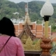 Brunette Female Tourist Is Observing Fascinating Asian Landscapes at the Viewpoint. - VideoHive Item for Sale