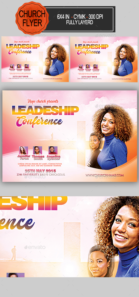 Leadership Conference Church Flyer - Church Flyers