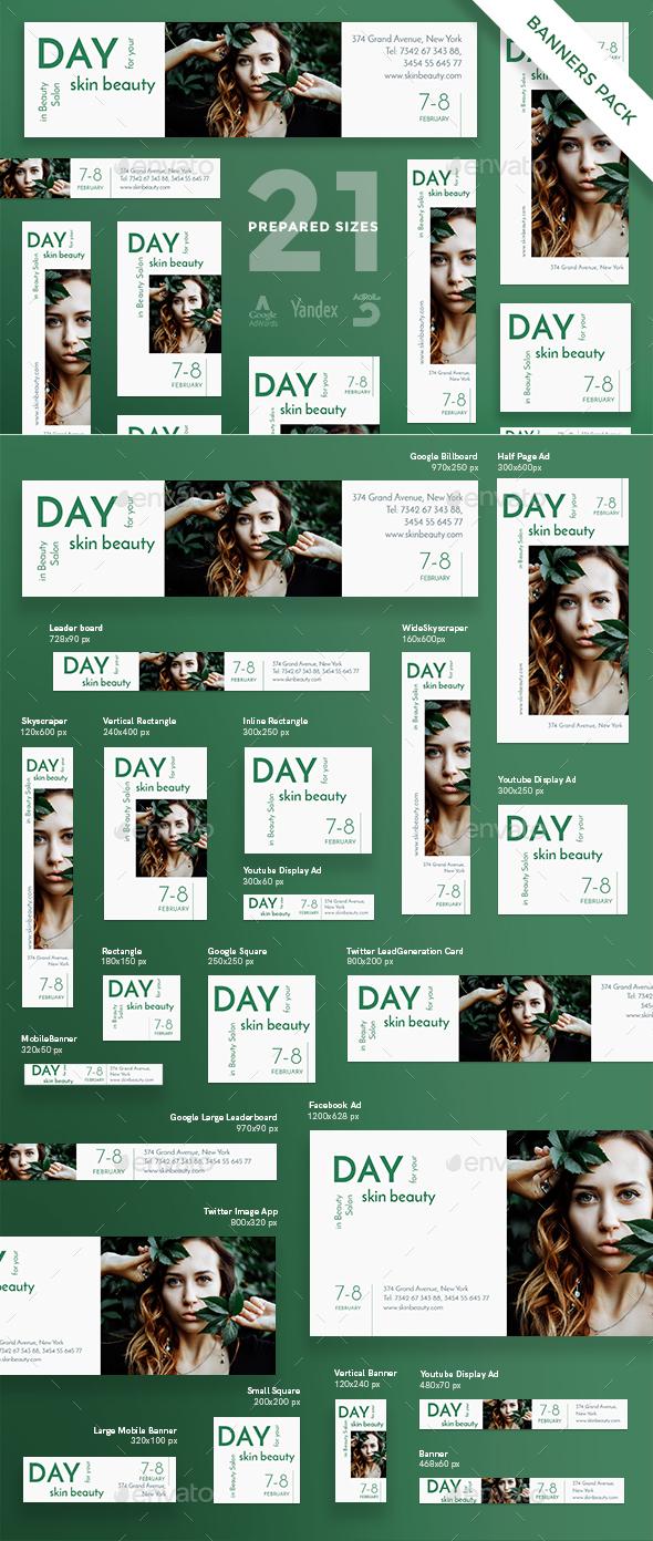 Beauty Salon Banner Pack - Banners & Ads Web Elements