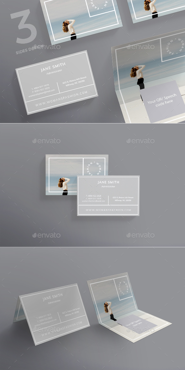 Women Fashion Business Card - Corporate Business Cards