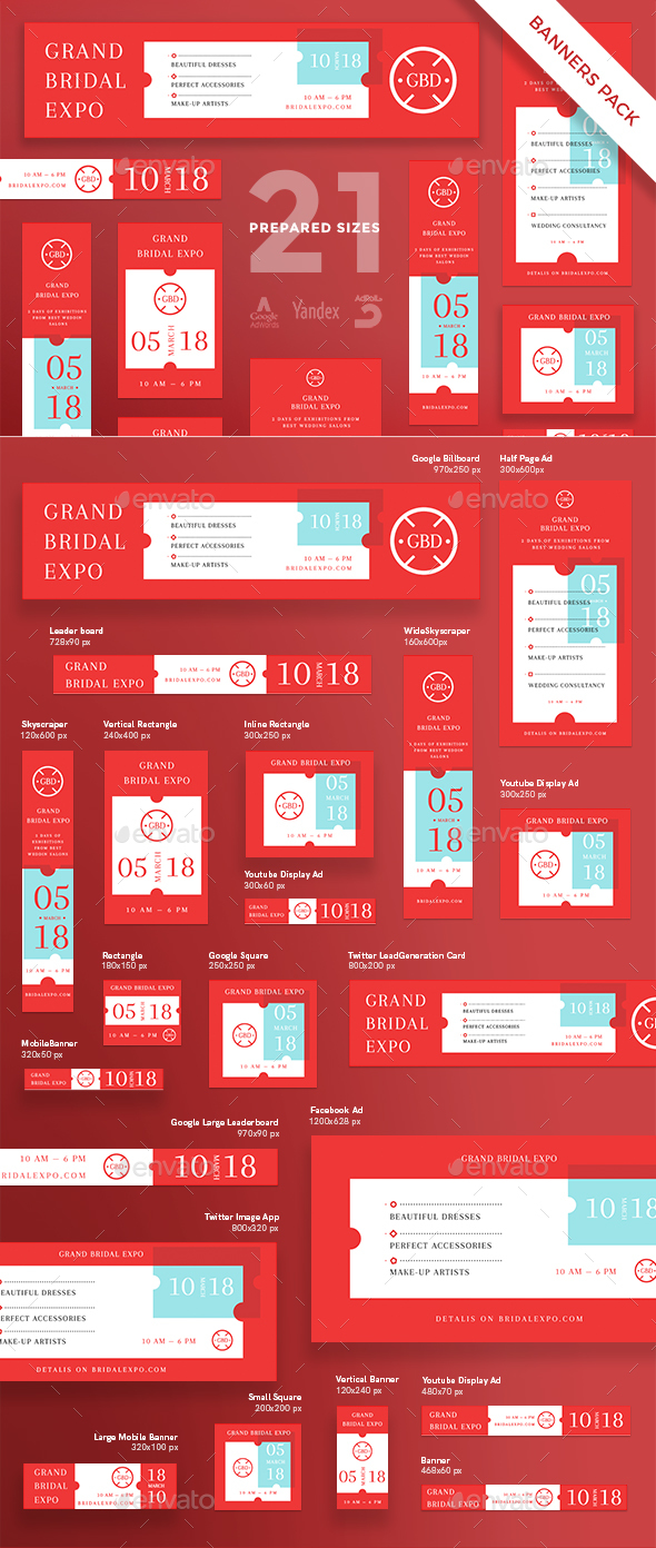 Grand Bridal Expo Banner Pack - Banners & Ads Web Elements