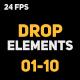 Liquid Elements 2 Drops 01-10 - VideoHive Item for Sale