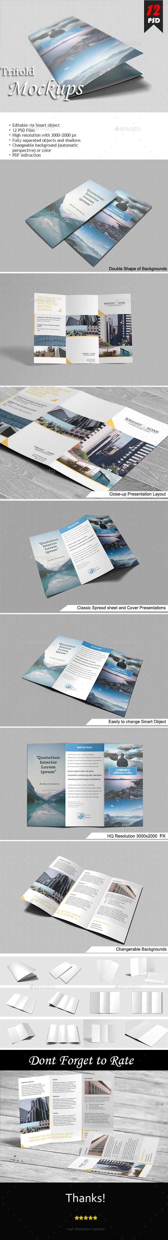 Trifold Brochure Mock-Up - Brochures Print