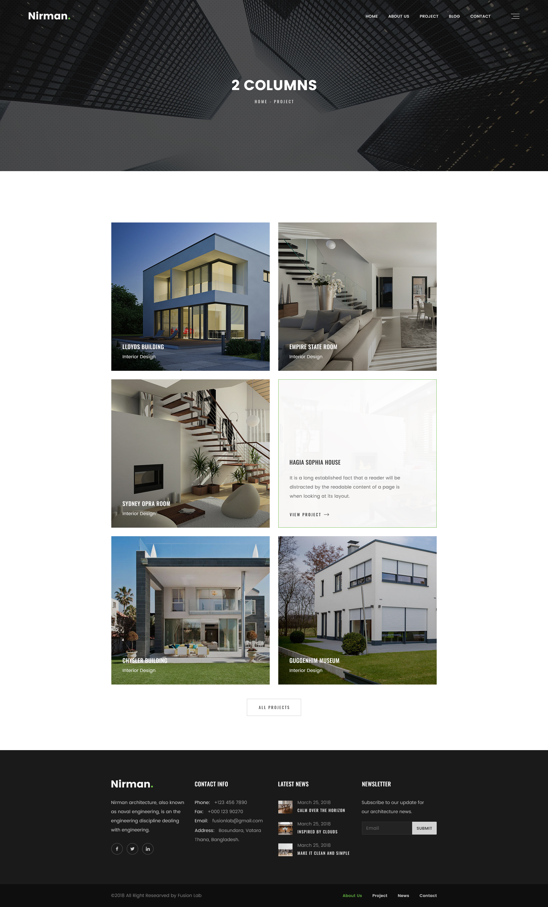 Nirman - Architecture PSD Template by designWings | ThemeForest
