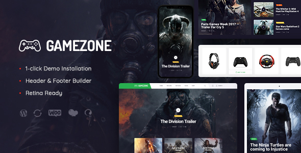 Gamezone | Gaming Blog & Store WordPress Theme