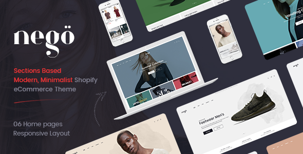 Nego - Minimalist Responsive Clothing, Kids, Bags, Cosmetics, Furniture, Fashion Shopify Theme - Fashion Shopify