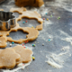 Cooking cookies with flower cookie cutters - PhotoDune Item for Sale