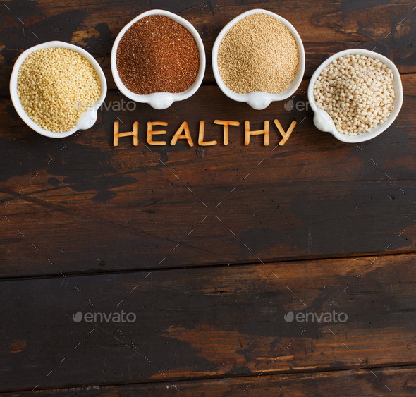 Gluten free grains - Stock Photo - Images