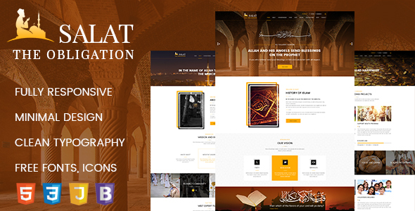 Salat – Islamic Center HTML 5 Responsive Template - Charity Nonprofit