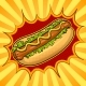 Hot Dog Pop Art Vector Illustration - GraphicRiver Item for Sale