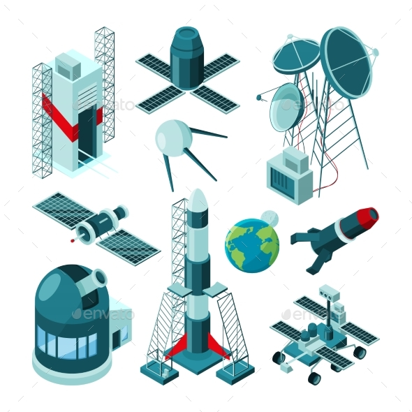 Different Constructions in Space Center for Rocket - Objects Vectors