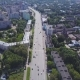 A View From the Air To the City Avenue with the Traffic of Cars and Pedestrians - VideoHive Item for Sale