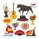 Travel Pictures of Spain Cultural Objects. Cartoon - GraphicRiver Item for Sale