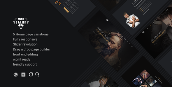 Image of MenzSalon - Barber & Salon WordPress Theme