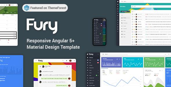 Fury - Angular 5+ Material Design Admin Template - Admin Templates Site Templates