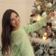 Portrait of a Pregnant Girl Near a Christmas Tree - VideoHive Item for Sale
