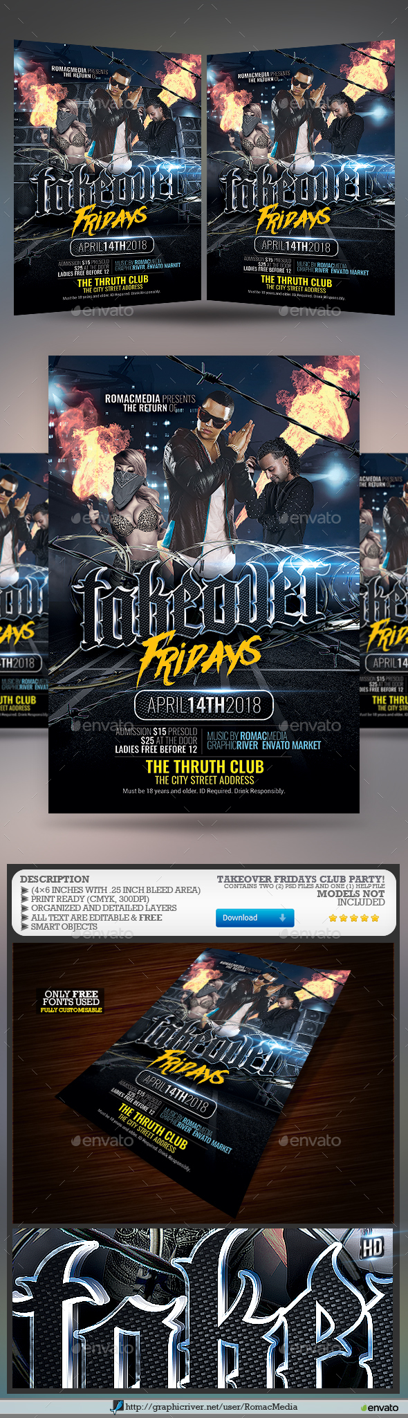Takeover Rap Flyer - Clubs & Parties Events