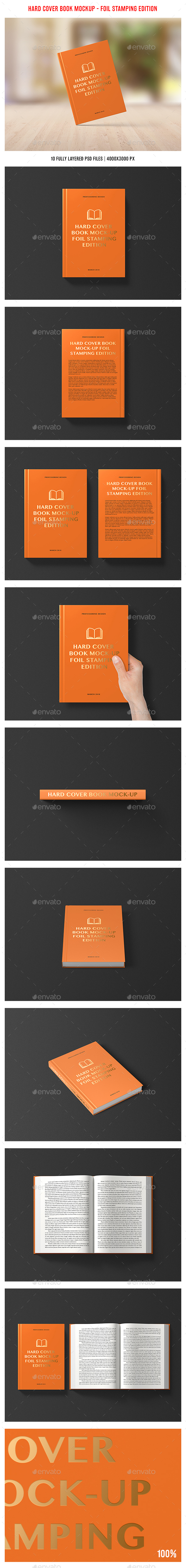 Hard Cover Book Mockup - Foil Stamping Edition - Books Print