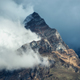 Mountains in clouds in overcast evening in Nepal - PhotoDune Item for Sale