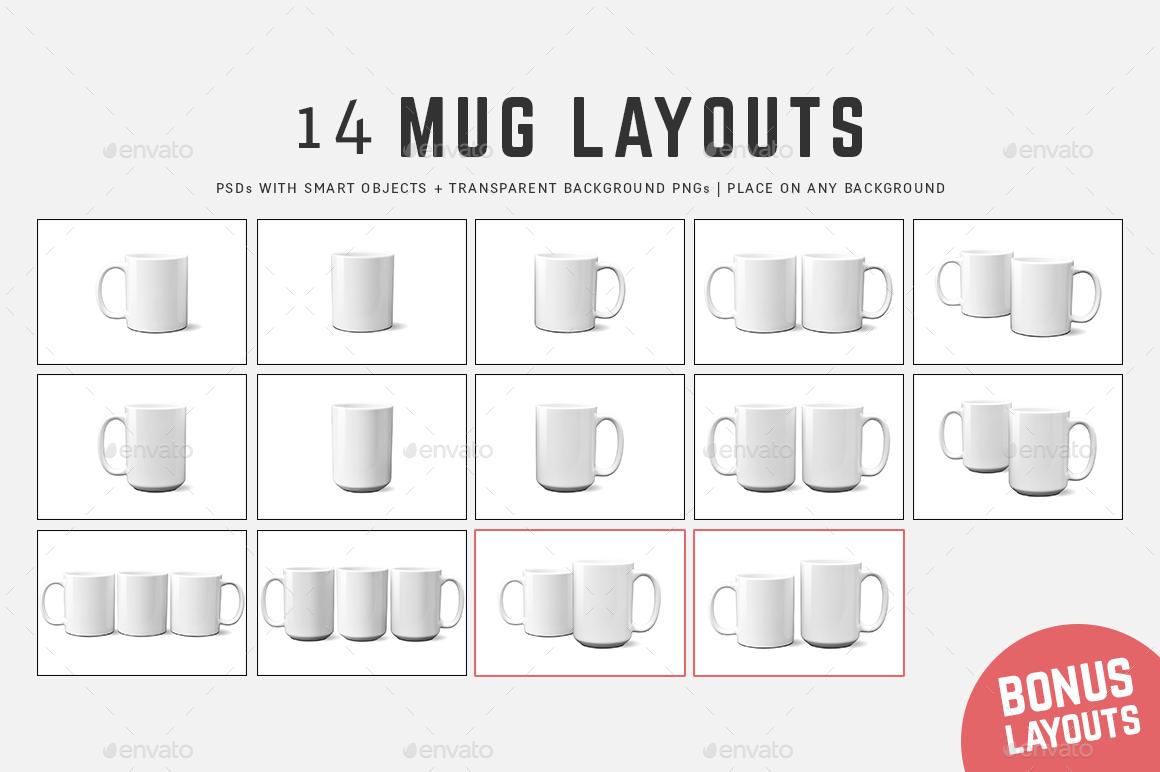 11 oz 15 oz full wrap mug mockup templates by ultimatemockups graphicriver. Black Bedroom Furniture Sets. Home Design Ideas