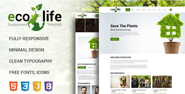 Eco Life Environmental HTML 5 Template