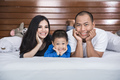 happy asian family in the bed - PhotoDune Item for Sale