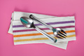 metal serving spoon and fork with napkin - PhotoDune Item for Sale