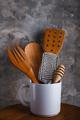 different kitchen utensils in white mug - PhotoDune Item for Sale