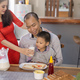 happy asian family having breakfast together - PhotoDune Item for Sale