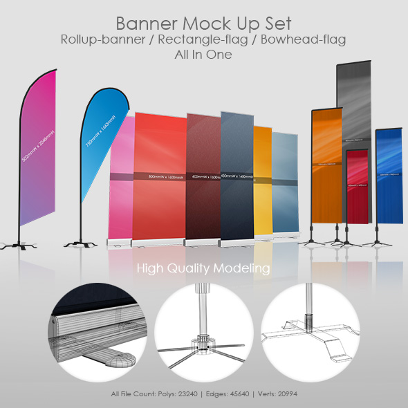 Banner Mock Up Set - 3DOcean Item for Sale