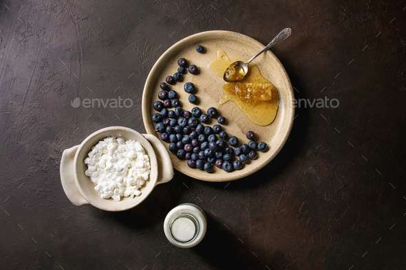 Homemade cottage cheese - Stock Photo - Images