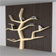 Modern Book Shelf Like Tree - 3DOcean Item for Sale