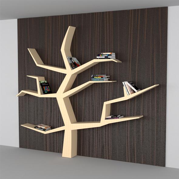 Modern Book Shelf Like Tree - 3DOcean Item for Sale