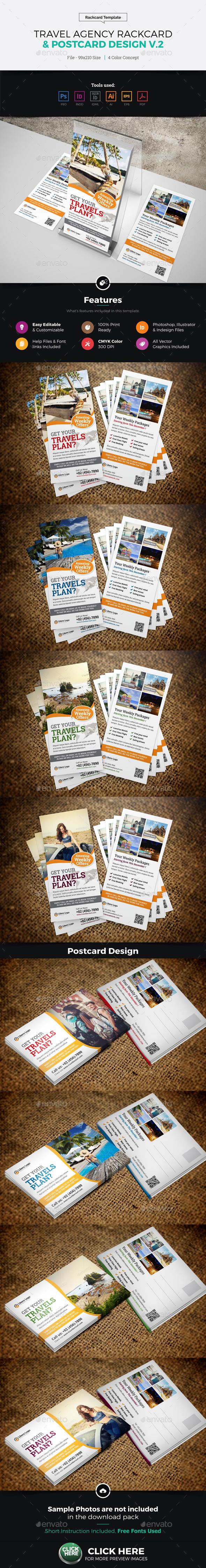 Travel Postcard Rackcard DL Flyer Design v2 - Corporate Flyers