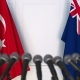 Flags of Turkey and Australia at International Press Conference - VideoHive Item for Sale
