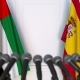 Flags of the UAE and Spain at International Press Conference - VideoHive Item for Sale