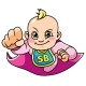 Super Baby Girl Flying - GraphicRiver Item for Sale