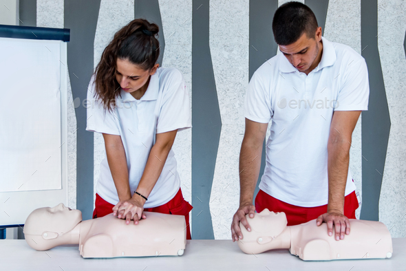 CPR class - Stock Photo - Images