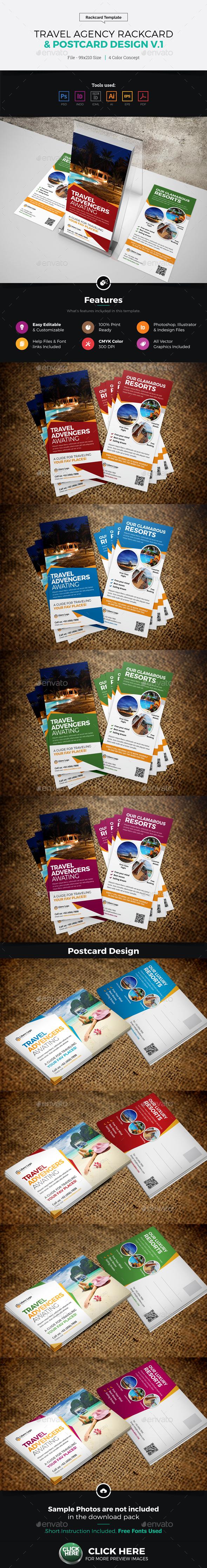 Travel Postcard Rackcard DL Flyer Design - Corporate Flyers