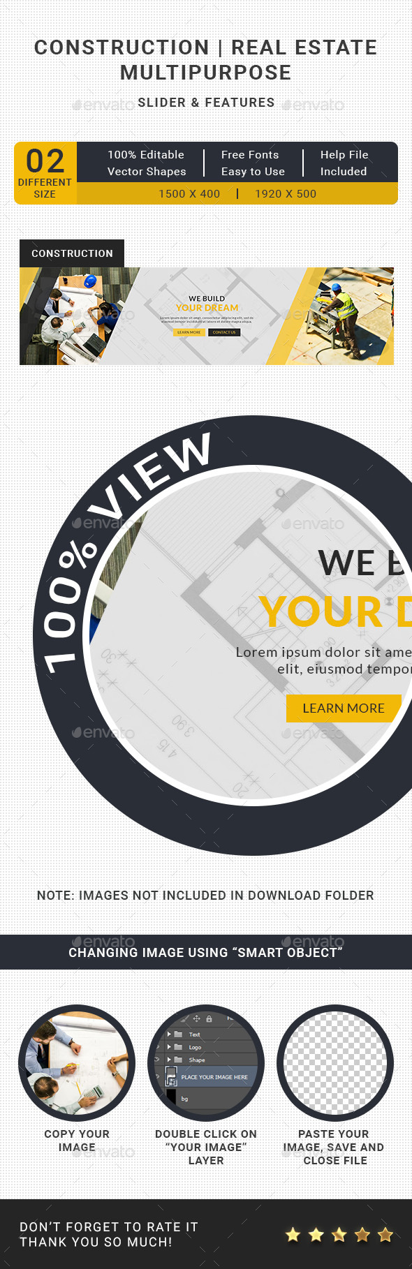 Construction Slider - Sliders & Features Web Elements