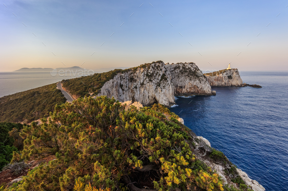 Cape Doukato, Lefkada island, Greece - Stock Photo - Images