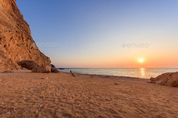 Porto Katsiki beach. Lefkada, Greece - Stock Photo - Images