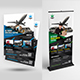 Delivery & Transport Service Flyer & Roll-Up Bundle - GraphicRiver Item for Sale