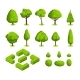 Isometric 3d Vector Park and Garden Trees - GraphicRiver Item for Sale