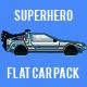 Superhero Flat Car Pack - VideoHive Item for Sale