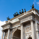 Triumph Arc - Arco Della Pace in Sempione park in Milan, Italy - PhotoDune Item for Sale