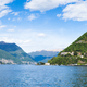 Panoramic view of Como city and lake near Milan in Italy - PhotoDune Item for Sale